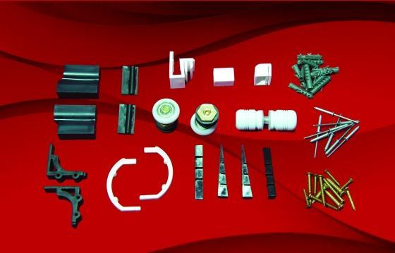 KIT BOX FRONTAL (F2) - PUXADOR DE AL FRISADO - BATEDOR PARAFUSO