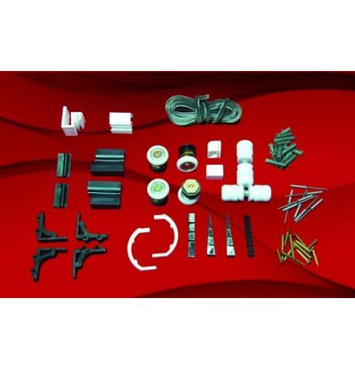 KIT BOX FRONTAL (F3) - PUXADOR DE AL LISO - BATEDOR PARAFUSO